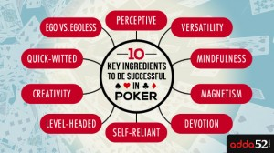 10 Key Ingredients To Be Successful in Poker