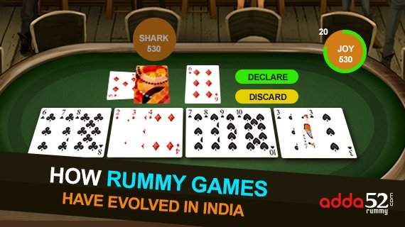 How Rummy Games have Evolved in India
