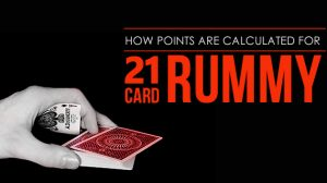 How points are calculated for 21 Card Rummy?