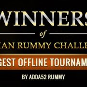 Winners of Indian Rummy Challenge, hosted by adda52 Rummy