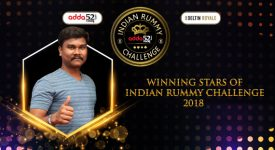 Winners of Indian Rummy Challenge, 2018 Powered by Adda52 Rummy