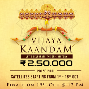 Play Rummy this Dusshera at Vijaya Kaandam Tournament for 2.5 Lacs