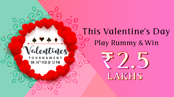 This Valentine's Day, play rummy online and win 2.5 Lacs