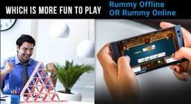 Which is more fun: Rummy online or Rummy offline?