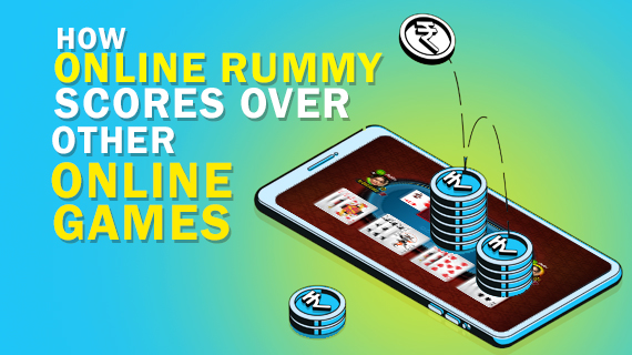 How Online Rummy Scores Over Other Online Games