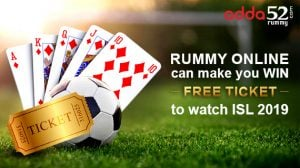 Rummy Online can make you win a free ticket to watch ISL 2019