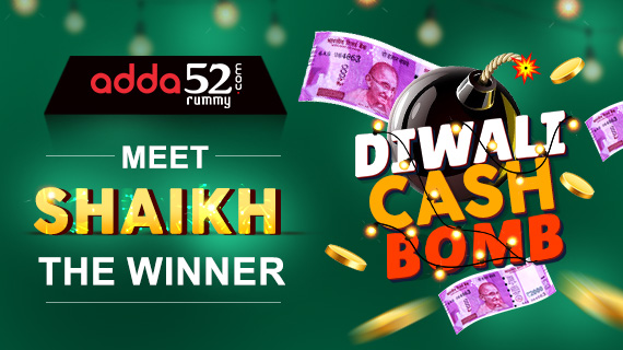 Meet Shaikh, winner of Diwali Cash Bomb @Adda52 Rummy