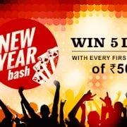 New Year Bash: Win 5 Lacs on First Deposit of Rs 500 at Adda52 Rummy
