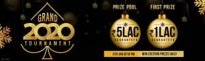 This New Year, Win Rs 5 Lacs at Grand2020 Rummy Tournament