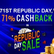On 71st Republic Day, Win 71% Cashback in Republic Day Sale Offer