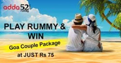 Play Rummy and Win Goa Couple Packages at Just Rs 75