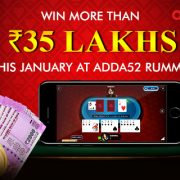 WIN MORE THAN 35 LAKHS THIS JANUARY AT ADDA52 RUMMY