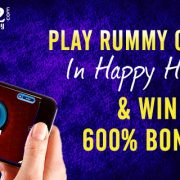 Play Rummy Online in Happy Hours & Win 600% Bonus