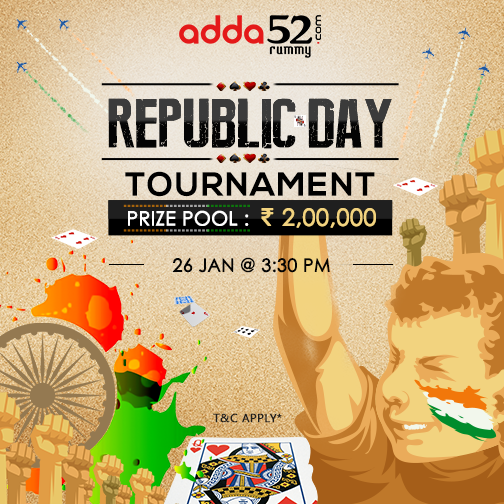 How to win 2Lakhs in Republic day Tournament at Adda52 Rummy