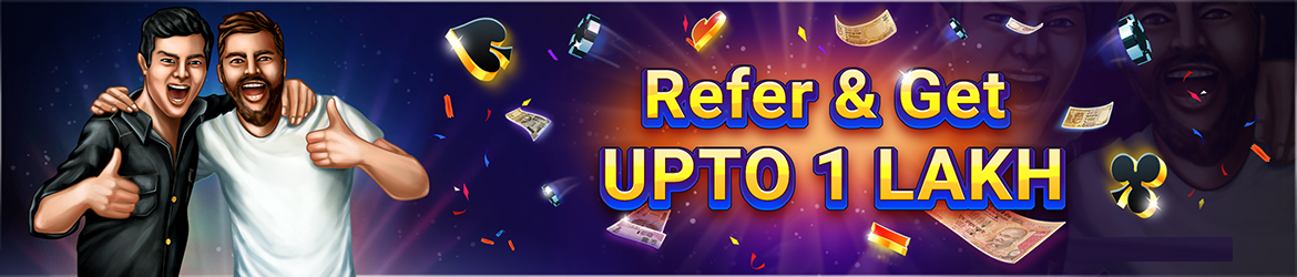 Refer a Friend and Earn upto 1 Lakh at Adda52 Rummy