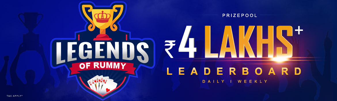 Play Legends of Rummy Leaderboard and Win Rs 4 Lakhs
